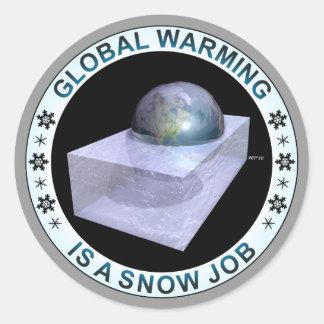 Global Snow Job Classic Round Sticker
