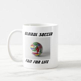 Global soccer fan mug