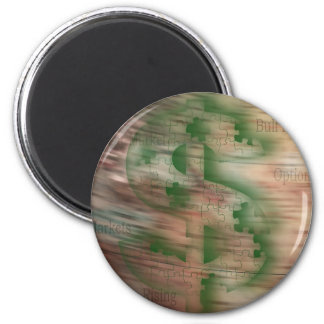 Global Stocks 2 Inch Round Magnet