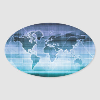 Global Technology Solutions Oval Sticker