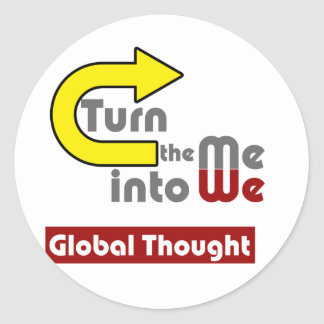 Global Thought Classic Round Sticker