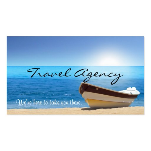 global travel agency agent business card