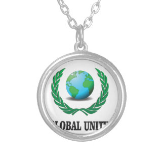 global unity award silver plated necklace