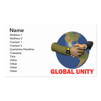Global Unity Double-Sided Standard Business Cards (Pack Of 100)