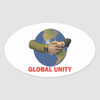Global Unity Oval Sticker