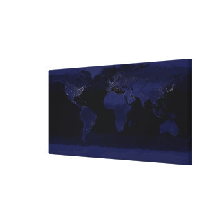Global View of Earth's City Lights Canvas Print