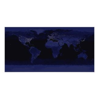 Global View of Earth's City Lights Photo Print