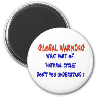 GLOBAL WARMING 2 INCH ROUND MAGNET