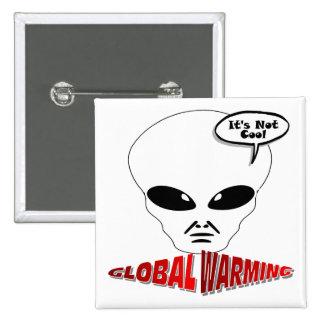 Global Warming 2 Inch Square Button