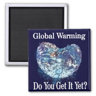 Global Warming 2 Inch Square Magnet