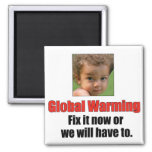 Global Warming 2 Inch Square Magnet Magnet