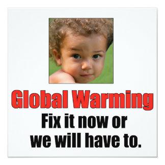 "Global Warming 5.25"" x 5.25"" Basic White Card"
