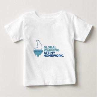 Global Warming Ate My Homework - Light Apparel Baby T-Shirt