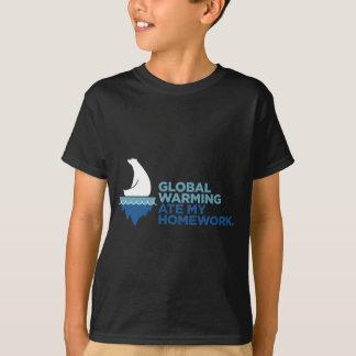 Global Warming Ate My Homework Youth T-Shirt