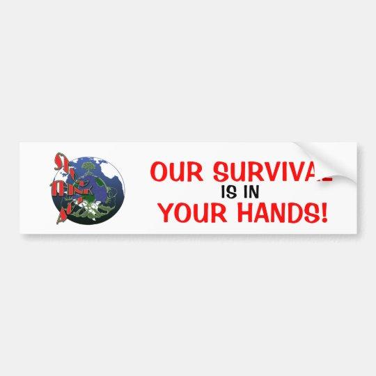 Global warming awareness bumper stickers