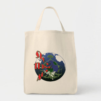 Global warming awareness organic tote bags
