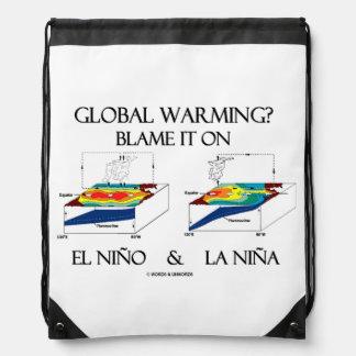Global Warming? Blame It On El Niño and La Niña Drawstring Backpack