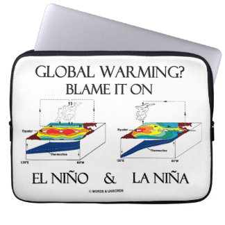 Global Warming? Blame It On El Niño and La Niña Laptop Sleeve