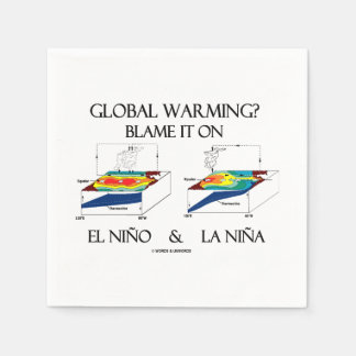 Global Warming? Blame It On El Niño and La Niña Standard Cocktail Napkin
