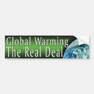 Global Warming Bumper Sticker Car Bumper Sticker