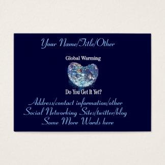 Global Warming Business Card