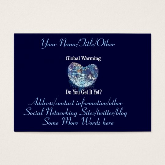 Global Warming Business Card