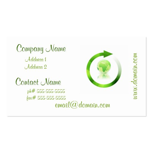 Global Warming Business Cards