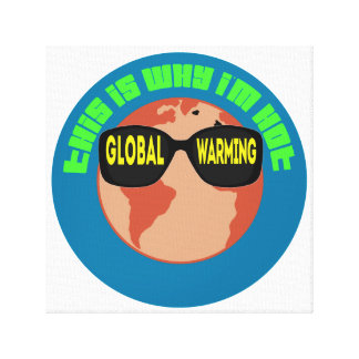 Global Warming Stretched Canvas Print