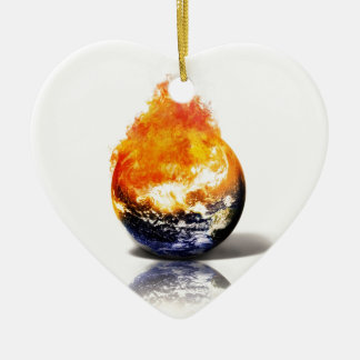 Global Warming Ceramic Ornament