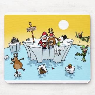 Global Warming Christmas Mouse Pad