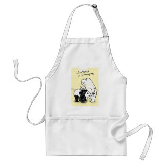 Global warming climate is changing bears adult apron