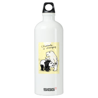 Global warming climate is changing bears aluminum water bottle