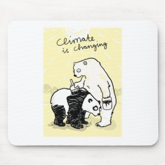 Global warming climate is changing bears mouse pad