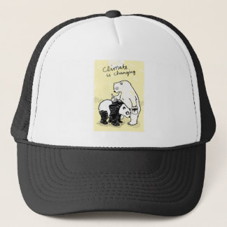 Global warming climate is changing bears trucker hat