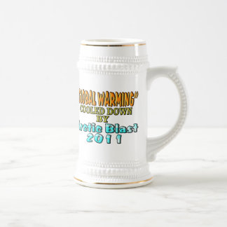 """""""Global Warming"""" Cooled Down By Arctic Blast 2011 Beer Stein"""