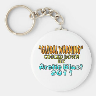 """""""Global Warming"""" Cooled Down By Arctic Blast 2011 Keychain"""