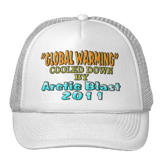 """""""Global Warming"""" Cooled Down By Arctic Blast 2011 Trucker Hat"""