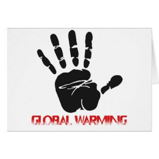 Global warming designs card