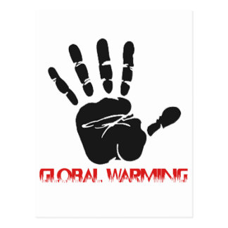 Global warming designs postcard