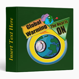 Global Warming Earth Day Avery Binder