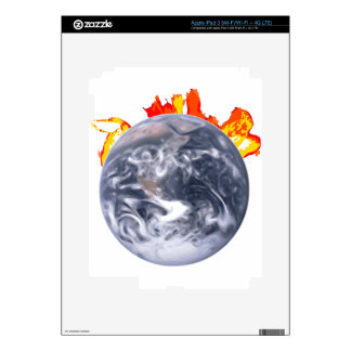 Global Warming Earth Decals For iPad 3