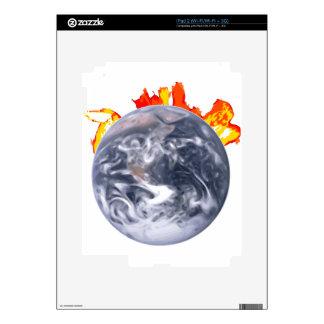 Global Warming Earth iPad 2 Skin