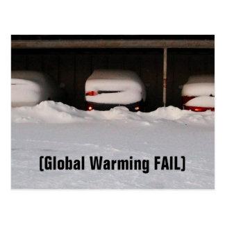 Global Warming FAIL Postcard