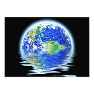Global Warming Flooded Earth Illustration Card