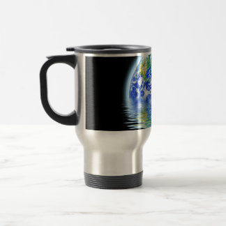 Global Warming Flooded Earth Illustration 15 Oz Stainless Steel Travel Mug