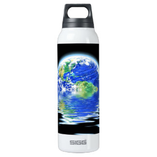 Global Warming Flooded Earth Illustration SIGG Thermo 0.5L Insulated Bottle