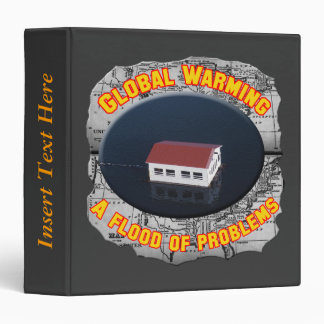 Global Warming Floods Earth Day Avery Binder
