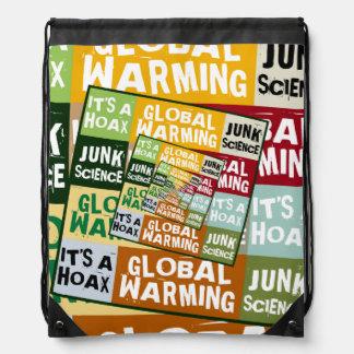 Global Warming Fraud Drawstring Backpack