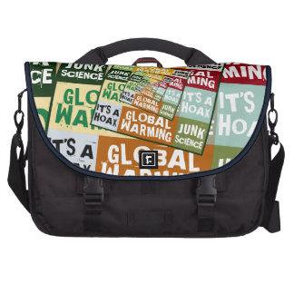 Global Warming Fraud Laptop Messenger Bag