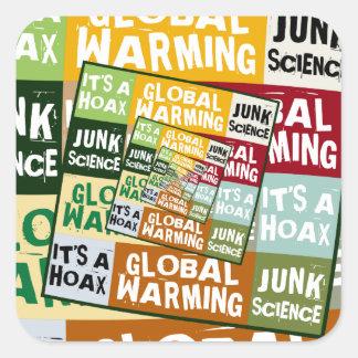 Global Warming Fraud Square Sticker